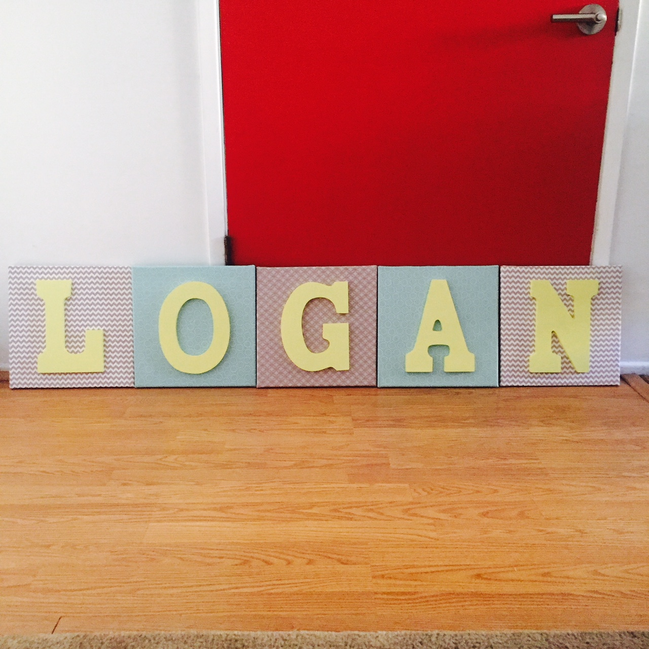 Diy nursery wall letters the how to duo for Homemade wall letters